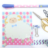 Animal Memo Pads (50 sheets/pkg) Pig & Sheep Memo Notes