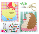 Animal Hedgehog & Duck Memo Pads (50 sheets/pkg)