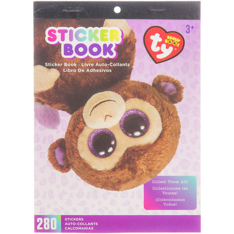 Beanie Boos Sticker Book Coconut™ the Monkey, 280 stickers