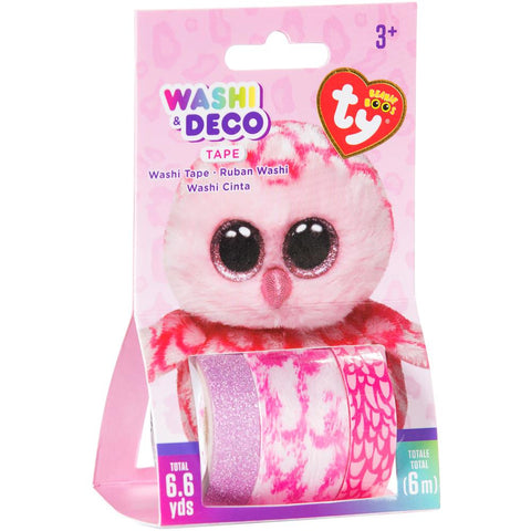 Beanie Boos Washi & Deco Tape for Kids Pinky™ Owl Set, 3 pieces