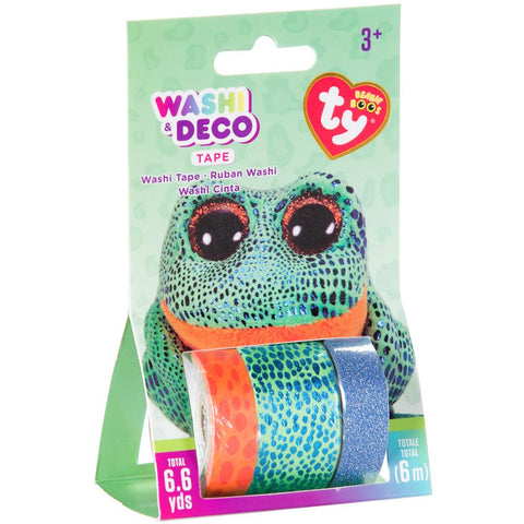 Beanie Boos Washi & Deco Tape for Kids Speckles™ Frog Set, 3 pieces