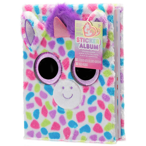 Beanie Boos Plush 3D Kids Sticker Album Wishful™ Unicorn