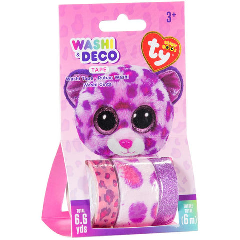 Beanie Boos® Washi & Deco Tape for Kids Glamour™ Leapord Set, 3 pieces