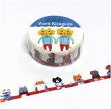 Yumi Kitagishi Cat Masking Tape • Postman Japanese Washi Tape