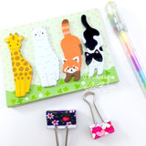 Die-cut Animal Sticky Notes • Amifa Animal Adhesive Tabs • Post It Notes Index Tabs