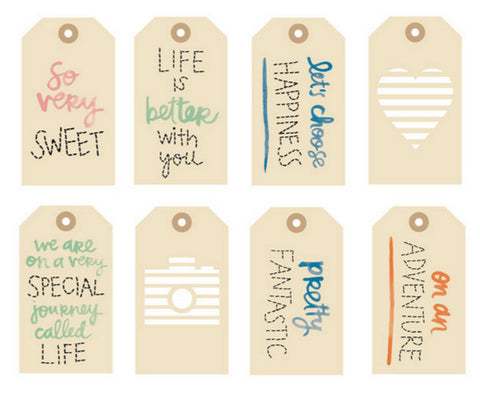 "Embroidered Tags Amy Tan Finders Keepers Kraft Tags 2.5""X4.5"" 8/Pkg"