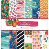 "Amy Tan Hustle & Heart American Crafts Single-Sided Paper Pad 12""X12"" 48/Pkg"