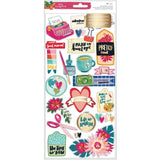 "Amy Tan Hustle & Heart Layered Paper Stickers 6""X12"""