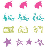 Shimelle Glitter Girl Self-Inking Roller Stamps 4/Pkg