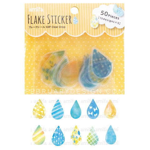 Clear Drop Sticker (50 pieces) Rain Drop Sticker
