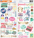 "Amy Tan Better Together Transparent Stickers Accents & Phrases W/Gold 6""X12"" 2/Pkg"