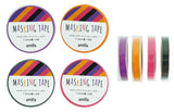 Autumn Color Slim Washi Tape Set (4 Rolls/Pkg)