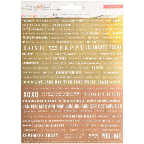 Gather Gold Foil Gather Foiled Phrase Stickers