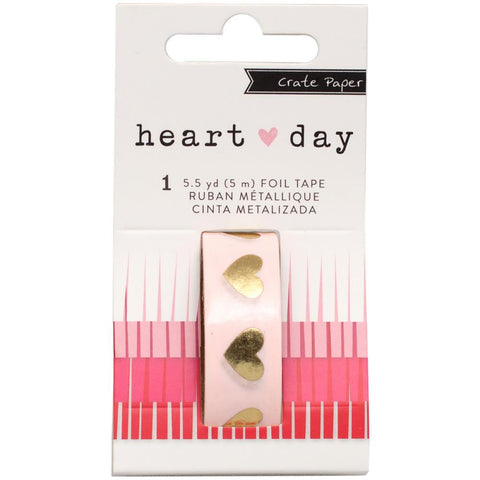 Gold Foil Hearts Heart Day Washi Tape Crate Paper