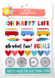 Amy Tan Oh Happy Life Sticker Book 8 Pages