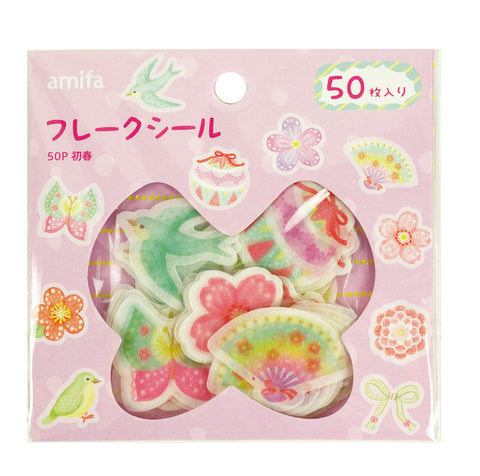 Early Spring Flake Sticker (40 pieces) Amifa