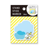 Birds & Clouds Sticky Notes Stand • Mind Wave Stand Stick Marker