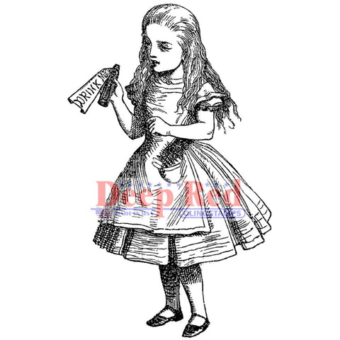 Alice Potion Rubber Stamp • Alice in Wonderland Cling Stamp