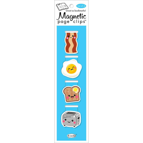 Breakfast Magnetic Bookmarks 4/Pkg