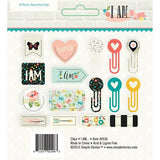 Decorative Shaped Plastic Clips I Am 16/Pkg