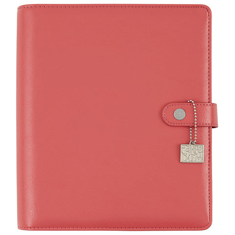 Carpe Diem Planners feature split leather construction with leather lining. Standard A5 six-ring binding, elastic pen loop, metal charm, five interior pockets and two side pockets. Inserts sold separately, this listing is for A5 binder only.
