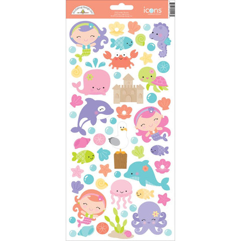 Under The Sea Icon Cardstock Stickers Doodlebug Collection