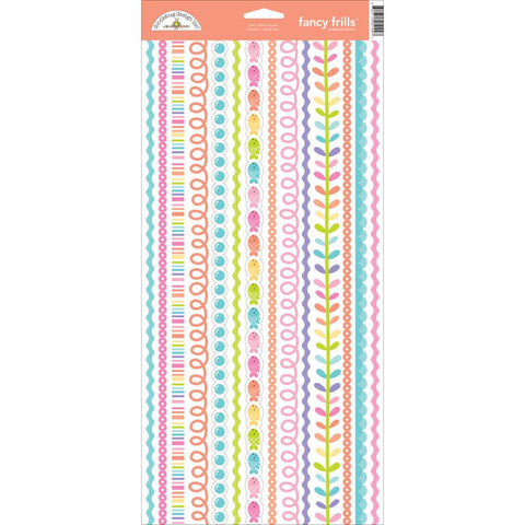Fancy Frills Under The Sea Cardstock Stickers Doodlebug Collection