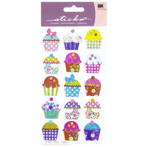 Electric Cupcakes Sticker Sticko