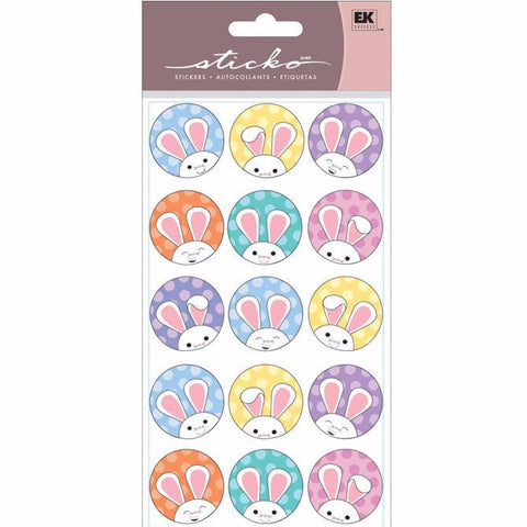 Bunny Circles Sticko Dimensional Sticker