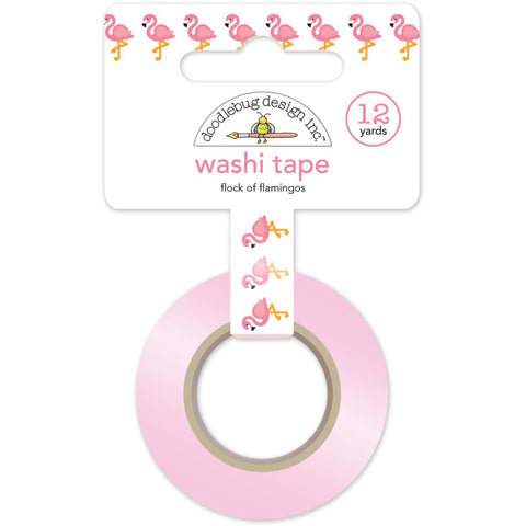 Flock Of Flamingos Washi Tape • Doodlebug Design