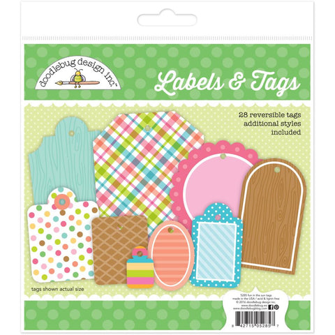 Fun In The Sun Labels & Tags 28/Pkg