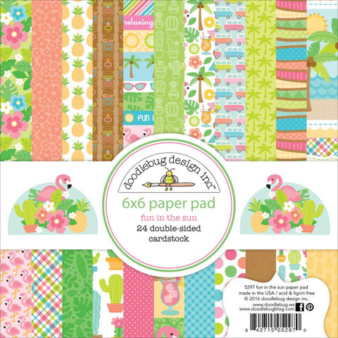 "Fun In The Sun Paper Pad 6""x 6"" Doodlebug Collection"