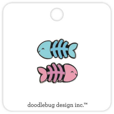 Fishy Bone Collectible Pin • Doodlebug Enamel Pin