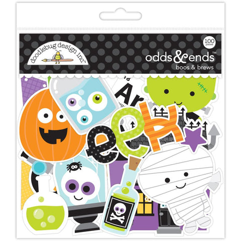Boos & Brews Ephemera Die-Cuts (78/Pkg) Doodlebug Odds & Ends
