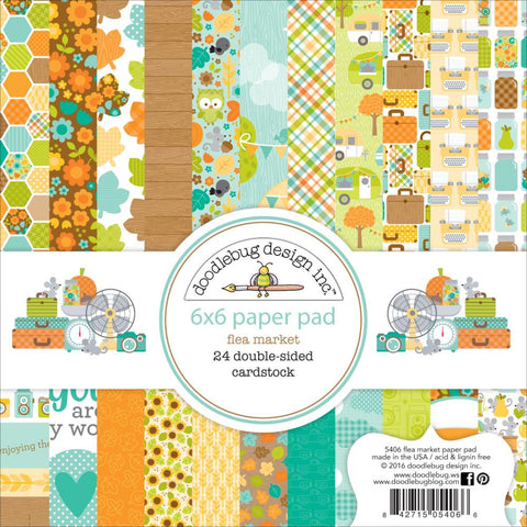 "Doodlebug Collection Flea Market Paper Pad 6""x 6"""