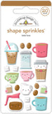 Cream & Sugar Latte Love Sticker • Doodlebug Sprinkles Adhesive Glossy Enamel Shapes