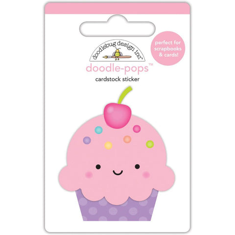 Fairy Tales Cute Cake Doodlebug Doodle-Pops 3D Stickers