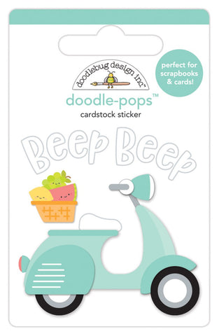 Beep Beep Scooter Sweet Summer Doodlebug Doodle-Pops 3D Stickers