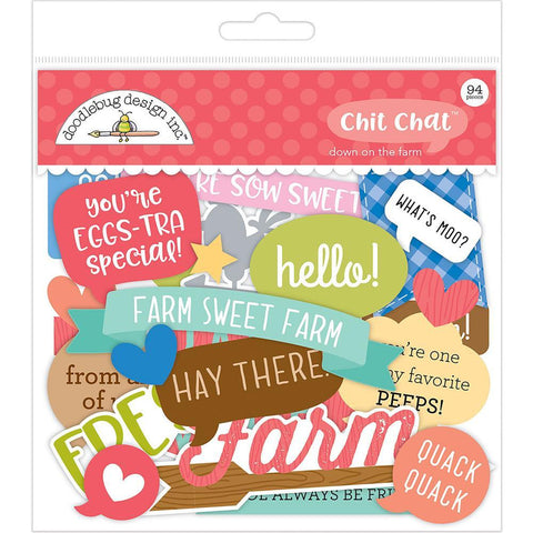 Doodlebug Collection Down On The Farm Chit Chat Odds & Ends 94pcs