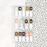 Assorted My Prima Planner Clear Tabs 280 pieces • My Prima Planner Embellishments