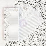 Coloring List Pad for A5 Planner (60 sheets) My Prima Planner Embellishments
