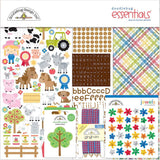 The perfect start to your scrapbooking projects and more! Kit includes 5 sheets of cardstock, stickers and assorted embellishments such as ribbon, brads, buttons or Doodle-Pops.