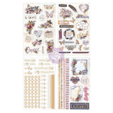 Perfect for planners and journals, these stickers from the Lavender collection are great for decorating and accenting your pages. Featuring rose gold accents.