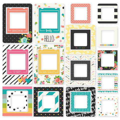 Carpe Diem Chipboard Photo Frames 24/Pkg Simple Stories