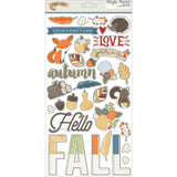 "Hello Fall Chipboard Stickers 6""X12""  Simple Stories"