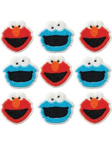 Sesame Street Icing Decorations