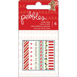 Merry Merry Washi Tape 6/pkg Pebbles