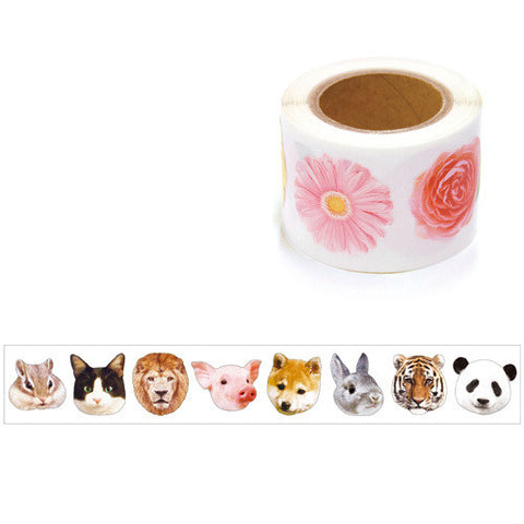 Animal Sticker in a roll (200 pieces) Mind Wave Seals Zeitaku