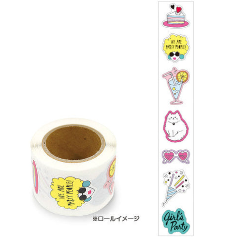Funny Girl Sticker in a roll (175 pieces) Mind Wave Seals Zeitaku