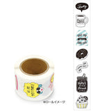Cafe Monochrome Sticker in a roll (175 pieces) Mind Wave Seals Zeitaku